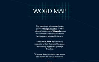 Word Map es un interesante mapamundi idiomático