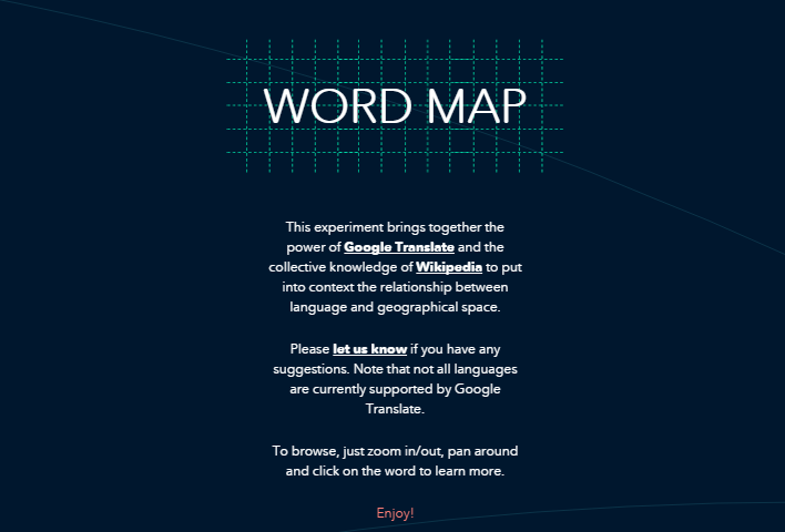 Busca palabras en todo el mundo con Word Map