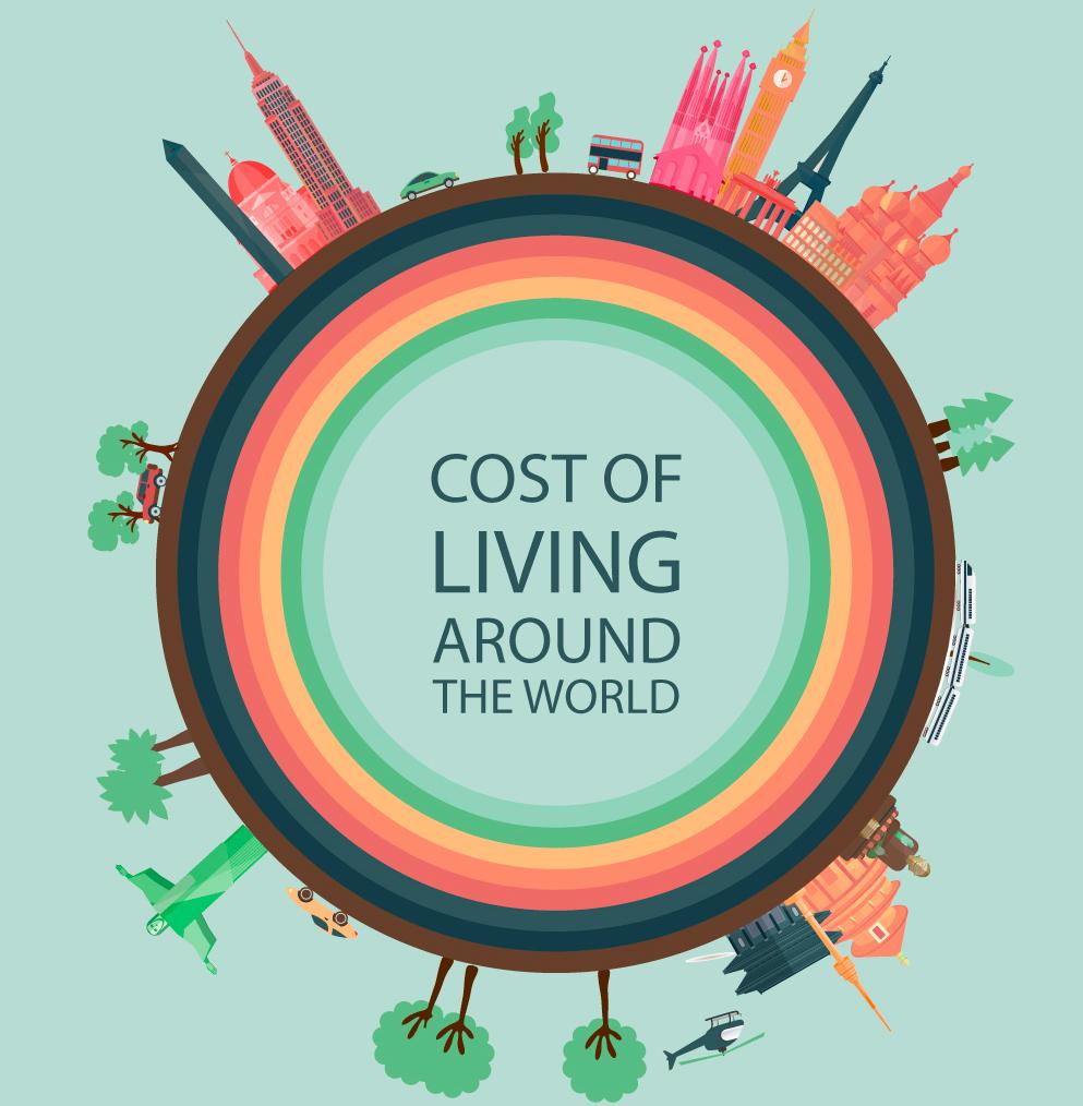 Comparativa sobre el coste de la vida en los 5 continentes