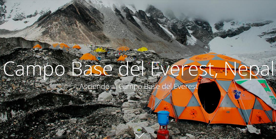 Asciende al Campo Base del Everest con Google Maps