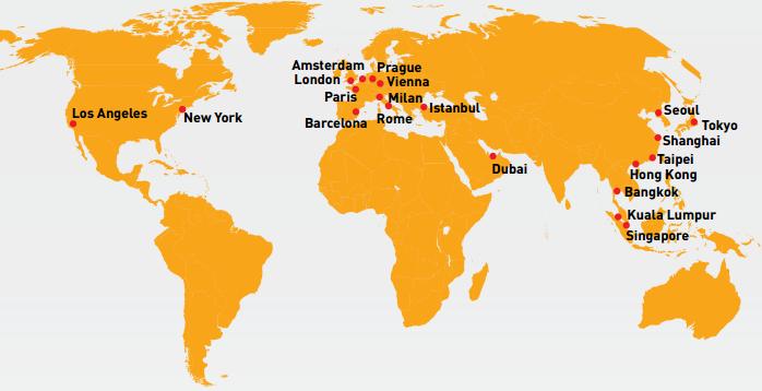 Infografía – Ranking global de ciudades más visitadas 2015
