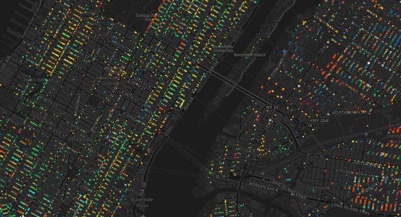 Estados Unidos – Mapa interactivo de los árboles de New York