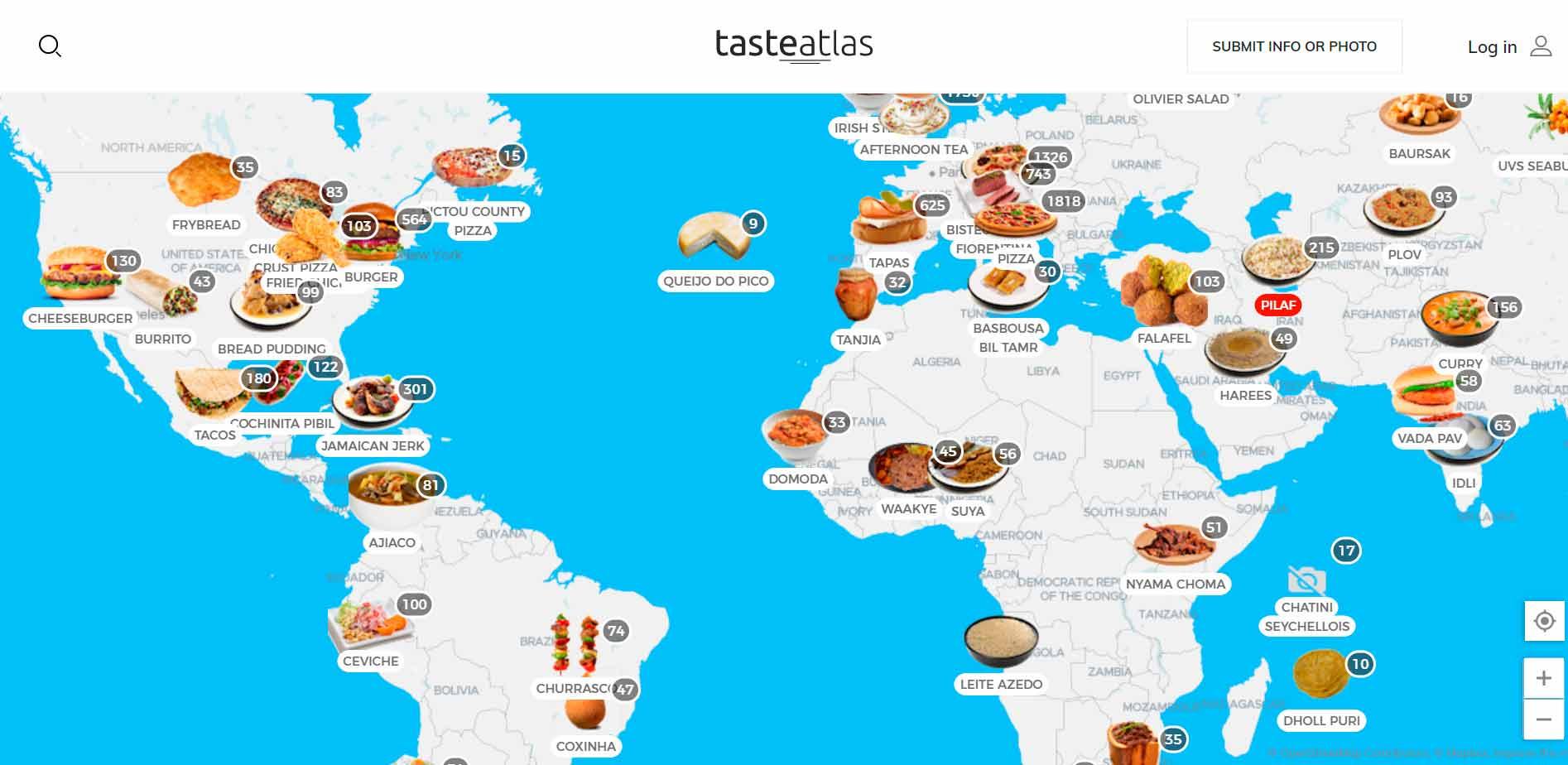 Descubre los mejores platos de cualquier rincón del mundo en un mapa interactivo